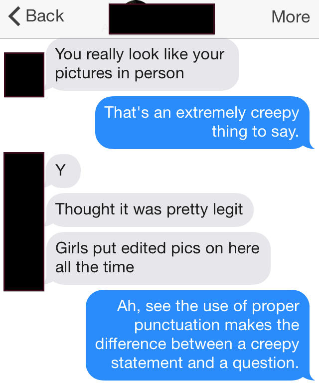 tinder submission 137 Punctuation Makes A Difference