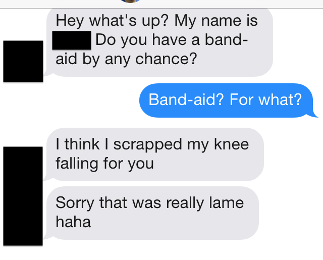 tinder submission 146 Do you have a band aid by chance?