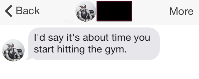 tinder submission 155 Time To Hit The Gym