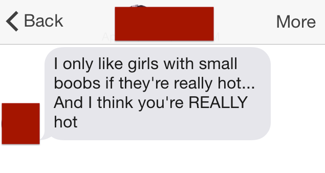 I only like girls with small boobs
